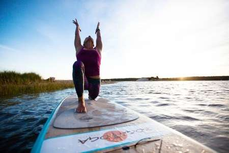 breathing an SUP Yoga